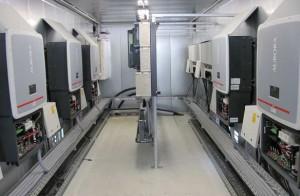 Große Solaranlage mit 438 kWp in Riesa (Erdgasarena). Erbaut bzw. errichtet im Jahr 2011.