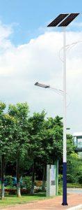 LED Straßenleuchte mit Solar Modellbeispiel 01