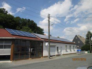 Solaranlage Lohse Lackiererei und Karosseriebau Chemnitz Einsiedel (30 kWp)